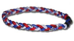 3 Rope Tornado Titanium Necklace (Red/White/Blue)