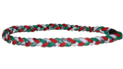 3 Rope Tornado Titanium Necklace (White/Red/Green)
