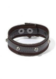 BCBGeneration Graphite Zip-Code Zipper Bracelet