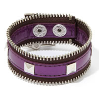 BCBGeneration Purple Zip-Code Zipper Bracelet
