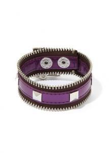 BCBGeneration Purple Zip-Code Zipper Bracelet