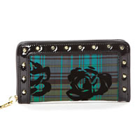 BETSEYVILLE by Betsey Johnson School Gal Zip-Around Wallet in Green