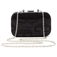 BETSEYVILLE by Betsey Johnson Skull Frame Evening Bag