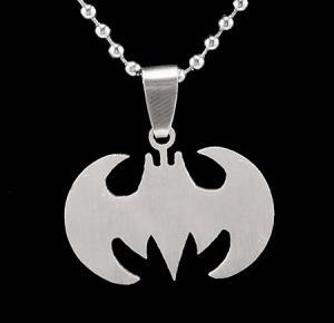 Batman Silver Pendant Necklace