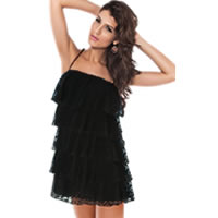 Black Lace Cover up Beach Dress