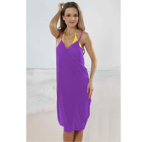 Violet Open Back Cover up Beach Dress