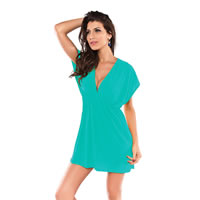 Emerald Green Plunge Cover up Beach Tunic
