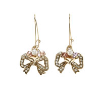 Betsey Johnson Bow Drop Earrings