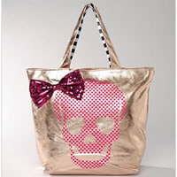 BETSEYVILLE by BETSEY JOHNSON Glamour Skull Shopper Bag