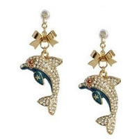 Betsey Johnson Dolphin Earrings