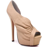 BETSEY JOHNSON Carrla Nude Open-Toe Platform Pump