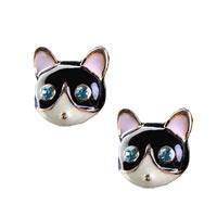 Betsey Johnson Cat Stud Earrings