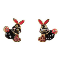 Betsey Johnson Critter Boost Rabbit Stud Earrings