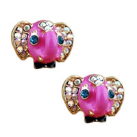 Betsey Johnson Elephant Stud Earrings