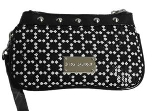 Betsey Johnson Grid Sequins Wristlet