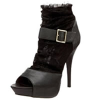 BETSEY JOHNSON Laccey Open-Toe Bootie