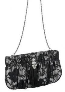 BETSEY JOHNSON Lace Skull Clutch