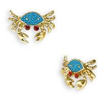 Betsey Johnson Mermaid's Tale Crab Earrings
