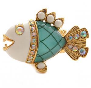 Betsey Johnson Under the Sea Piranha Stretch Ring