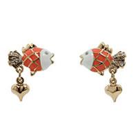 Betsey Johnson Under The Sea Goldfish Stud Earrings