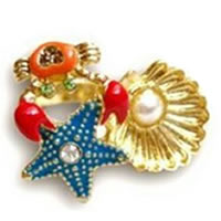Betsey Johnson Under the Sea Crab Ring