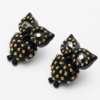 Black Owl Stud Earrings