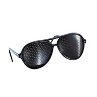 Black Pinhole Aviator Eye Glasses