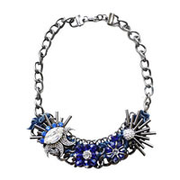 Blue Moon Crystal Statement Necklace