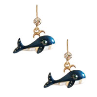Blue Whale Drop Earrings