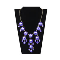 Bubble Bib Necklace in Pearl Purple