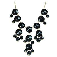 Bubble Bib Necklace in Black