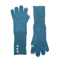 CALVIN KLEIN Teal Touch Gloves with Buttons