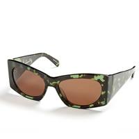 CYNTHIA ROWLEY Handmade Geometric Green Frame Sunglasses