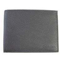 Calvin Klein Leather Passcase Wallet In Black 79374IN