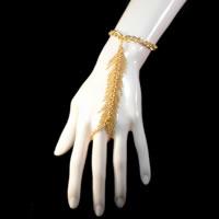 Cascading Fringe Gold-tone Slave Bracelet