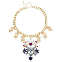 Colorful Skull Statement Necklace
