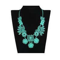 Choker Bib Necklace in Seaform Green