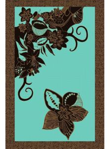 Coffee Teal Sarong Beach Cover up