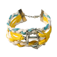 Colorful Anchor Braided Bracelet