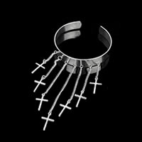 Cross Tassel Upper Arm Cuff Bracelet