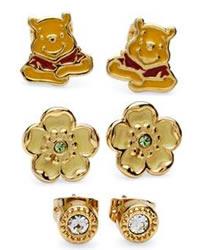 Disney Couture Winnie the Pooh Bear Earrings