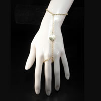 Gold-tone Single Leaf Slave Bracelet