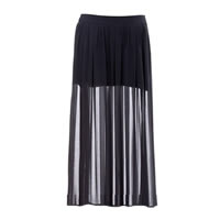 Half Sheer Chiffon Skirt