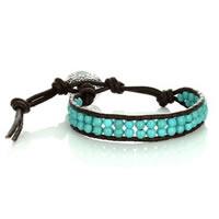 Handmade Trendy Turquoise Bead Bracelet