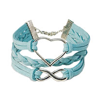 Heart & Infinity Braided Bracelet