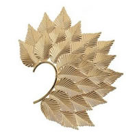 Huge Leaf Ear Cuff in gold