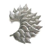 Huge Leaf Ear Cuff in silver