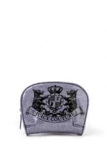 Juicy Couture Glitter Round Cosmetic Case