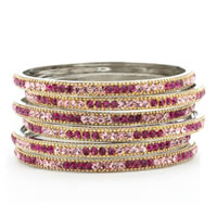 JUILLET ONE THREE Hot Pink Multi Colored Bangles