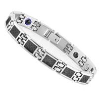 Ladies South Korean Titanium Steel Black Fiber Magnetic Health Bracelet
